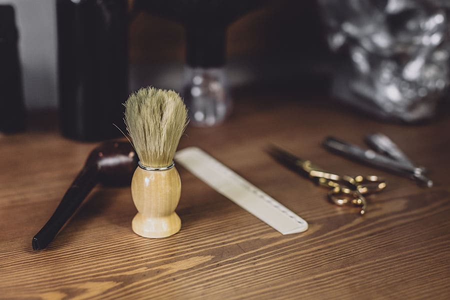 shaving brush care